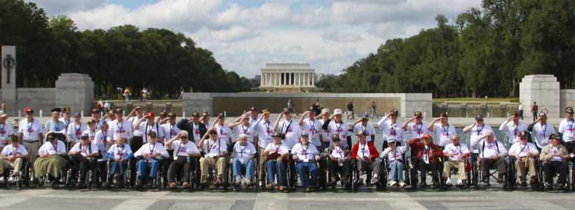 Honor Flight Group at WWII Memorial