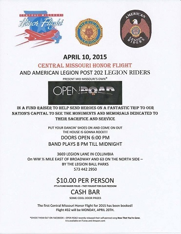 Open Road Fundraiser 4-10-2015